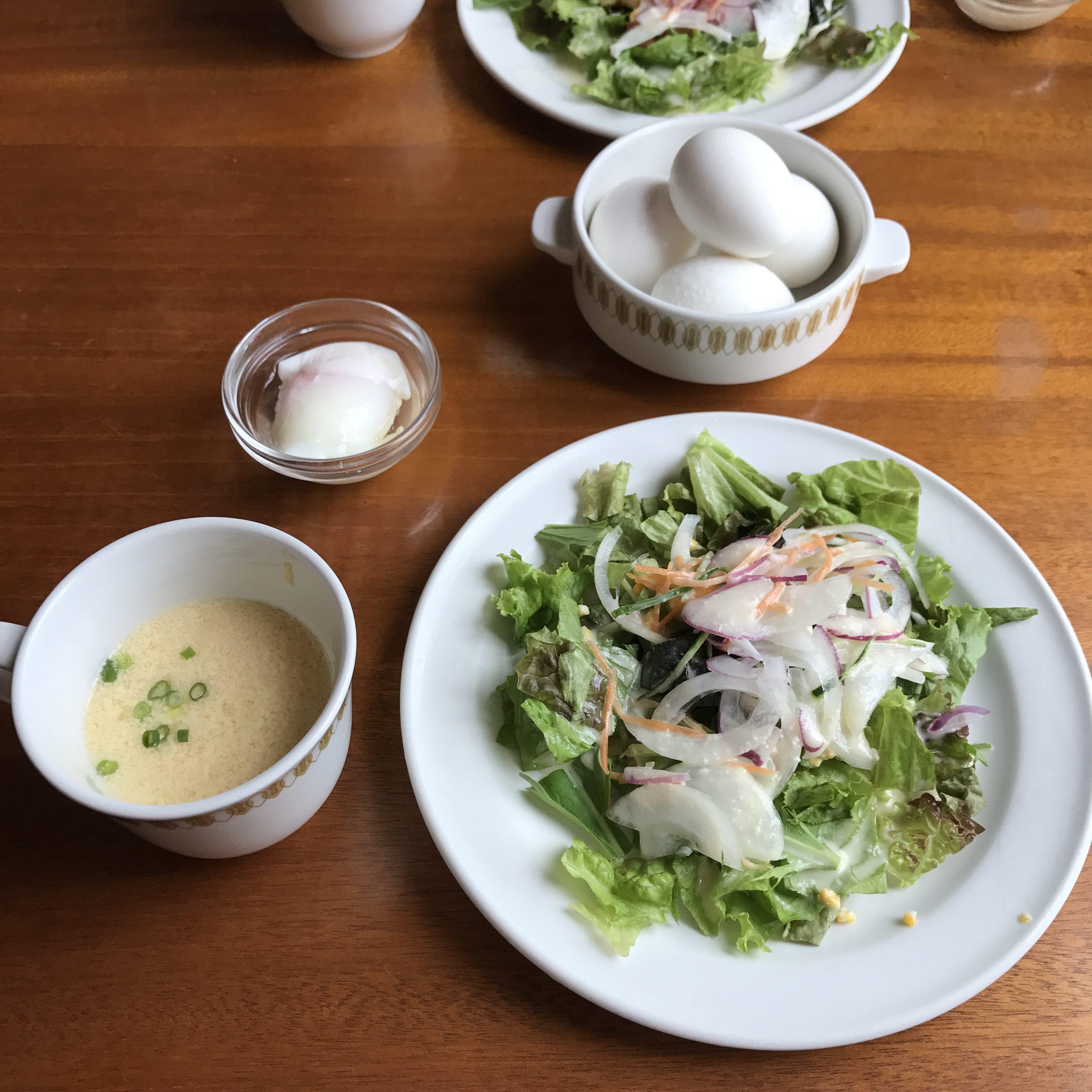 フェルヴェール本店サラダ、スープ