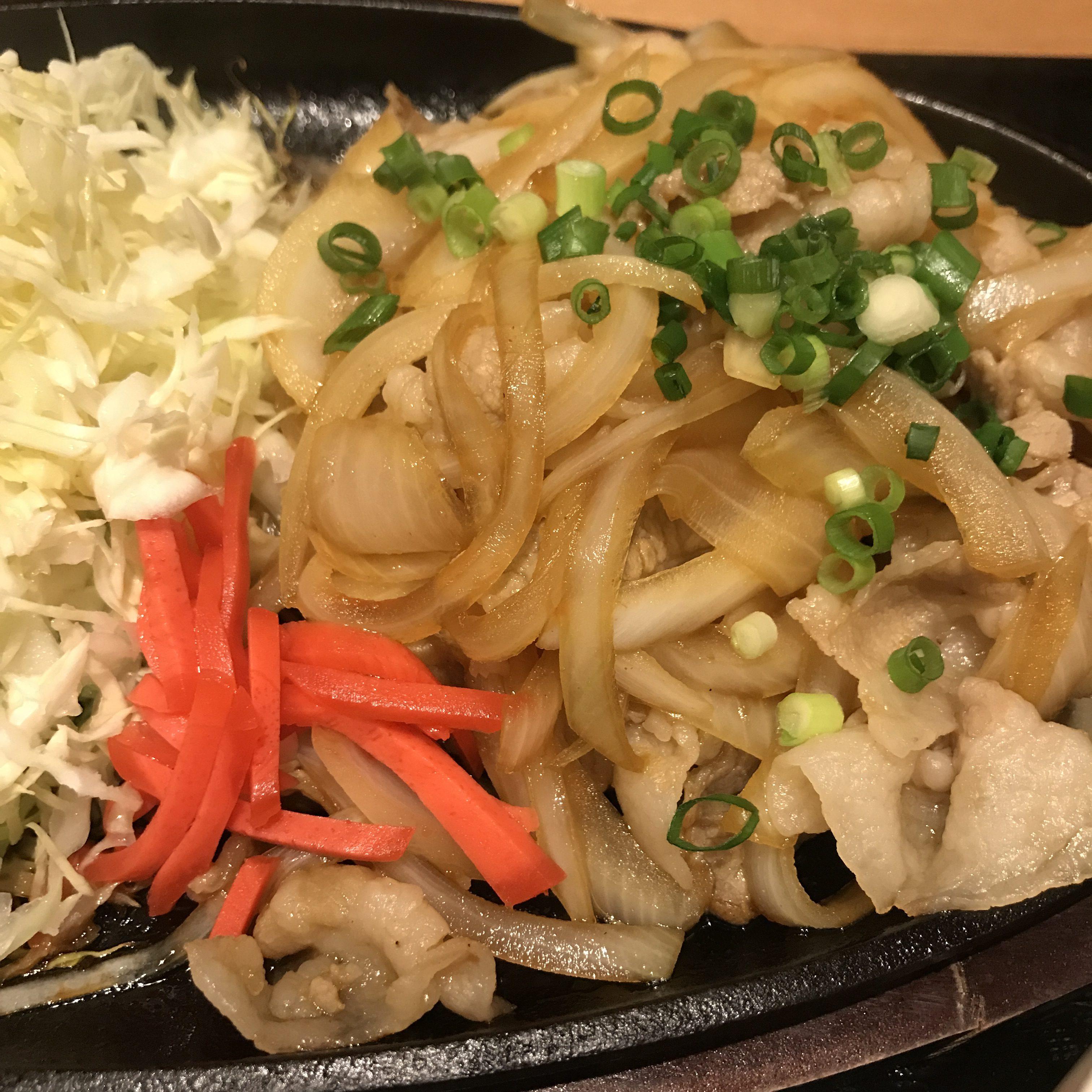 けんこううどん豚生姜焼き定食2