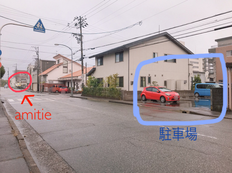 cafe amitie駐車場4